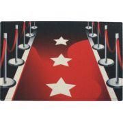 tapete divertido vermelho 0,60m x 0,40m cod 0023