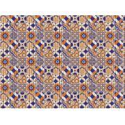 tropical azulejo português laranja