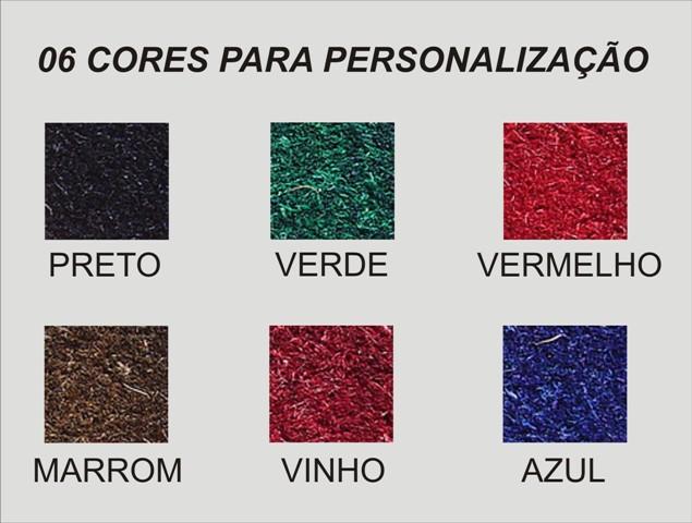 Capachos personalizados fibra de coco com logo e bordas