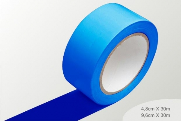 fita de demarcação azul