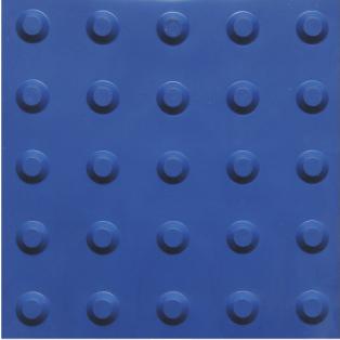 piso tátil em pvc 16pçs ou 1m² alerta azul