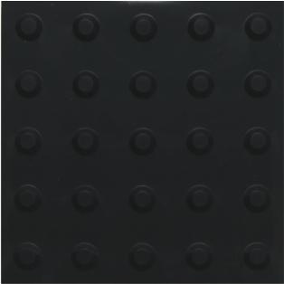 piso tátil em pvc 16pçs ou 1m² alerta preto
