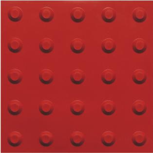 piso tátil em pvc 16pçs ou 1m² alerta vermelho