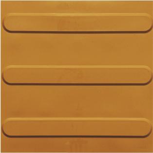 piso tátil em pvc 16pçs ou 1m² direcional ouro