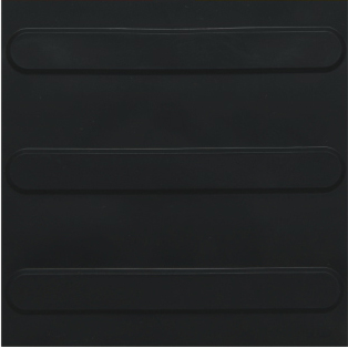 piso tátil em pvc 16pçs ou 1m² direcional preto