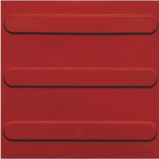 piso tátil em pvc 16pçs ou 1m² direcional vermelho