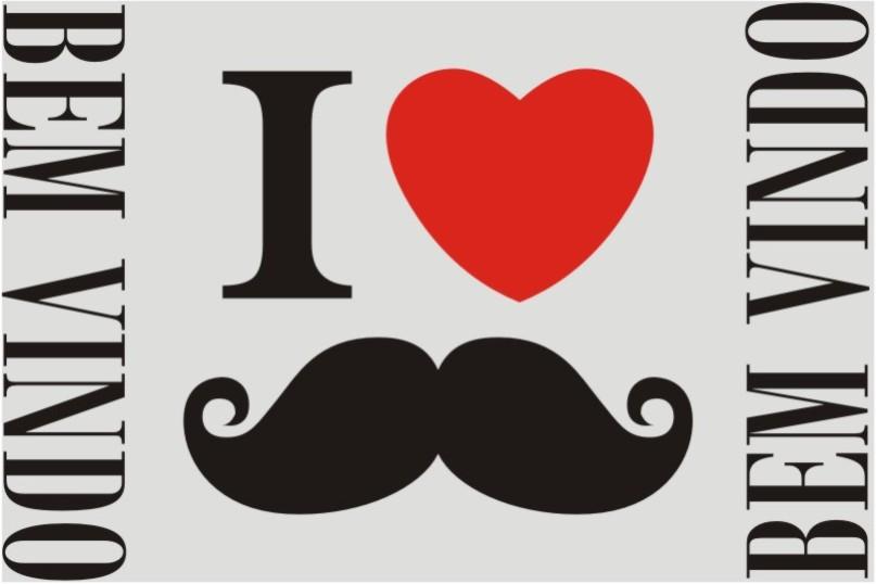 tapete divertido bigode 0,60m x 0,40m cod 0041
