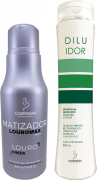 Kit Matizador Louromax Black 300ml e Diluidor 300ml