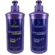 Kit Shampoo Louromax 300ml e Condicionador 300ml Daily Care