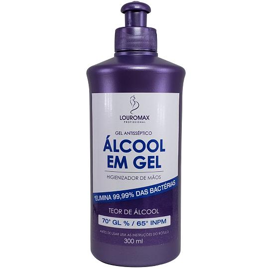 ÁLCOOL GEL 70% LOUROMAX - GEL ANTISSÉPTICO 300ML