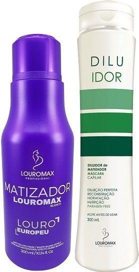 Kit Matizador Louromax Blanco 300ml e Diluidor 300ml