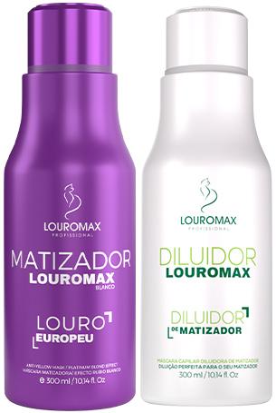 Kit Matizador Louromax Blanco - Efeito Louro Europeu - 300ml e Diluidor de Matizador 300ml
