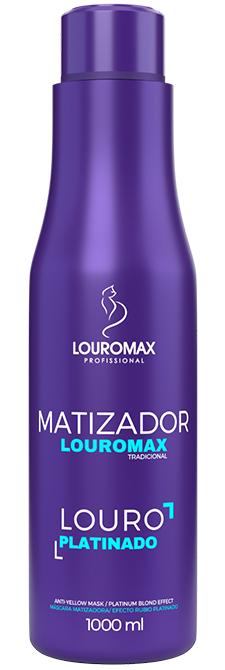Matizador Louromax Tradicional - Efeito Louro Platinado - 1000ml