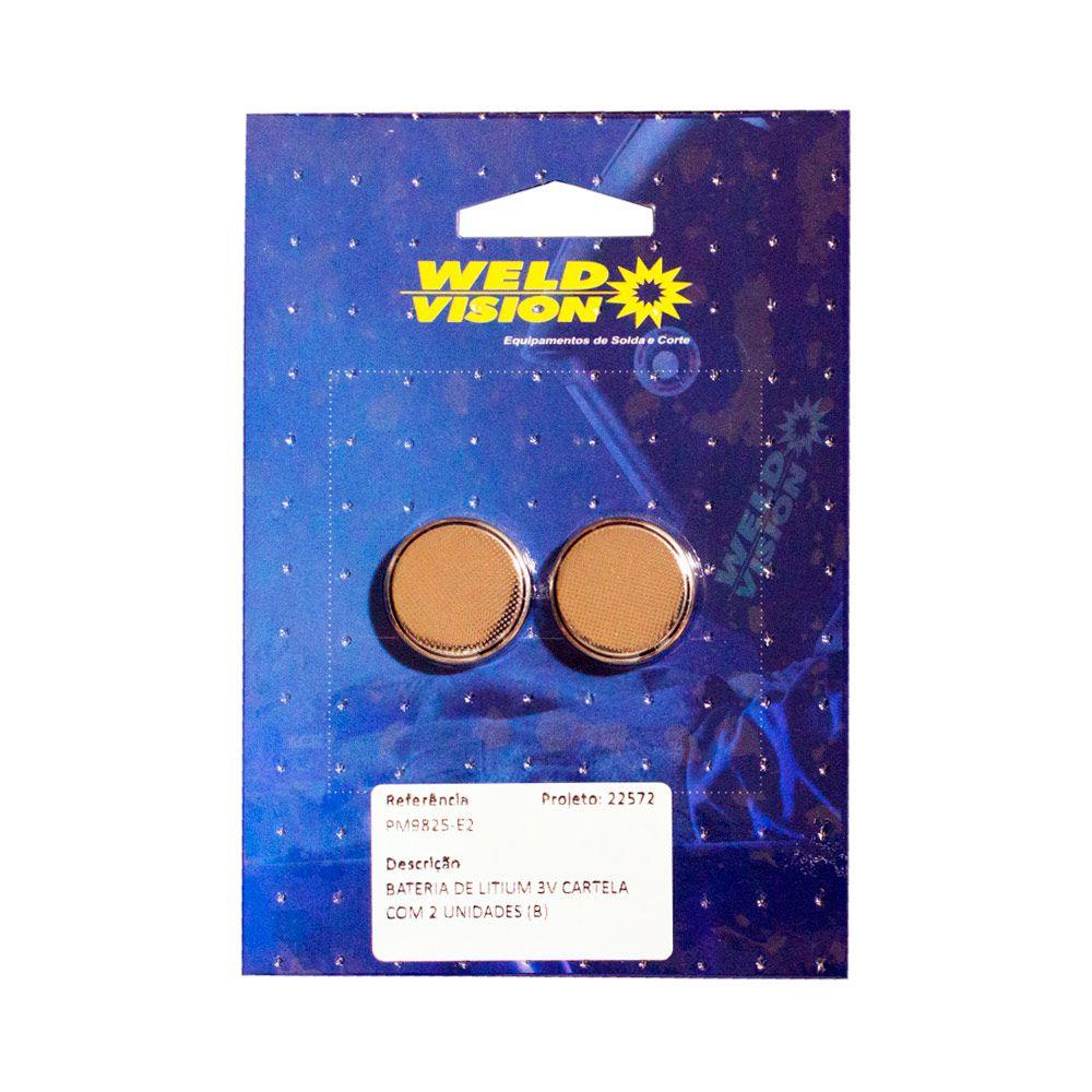 Bateria de Litium 3V cartela com 2 unidades