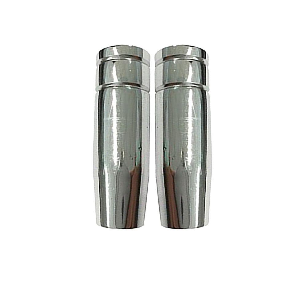 Bocal Cônico para Tochas MIG - D.9,5 - 36k / D.10 - 23k ou 24k/ D.11,5 - 25k/ D.12 - 36k/ D.12,5 - 23 ou 24k/ D.15 - 25k/ D.16 - 36k ou 50k/ D.21- 40K  - com duas unidades