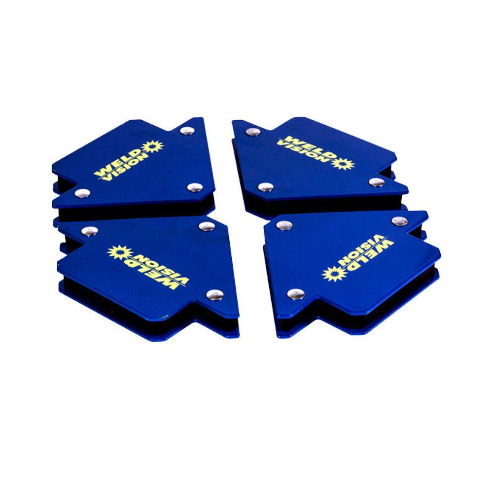 Kit De Esquadros Magnético 10 Kg 04 Unidades
