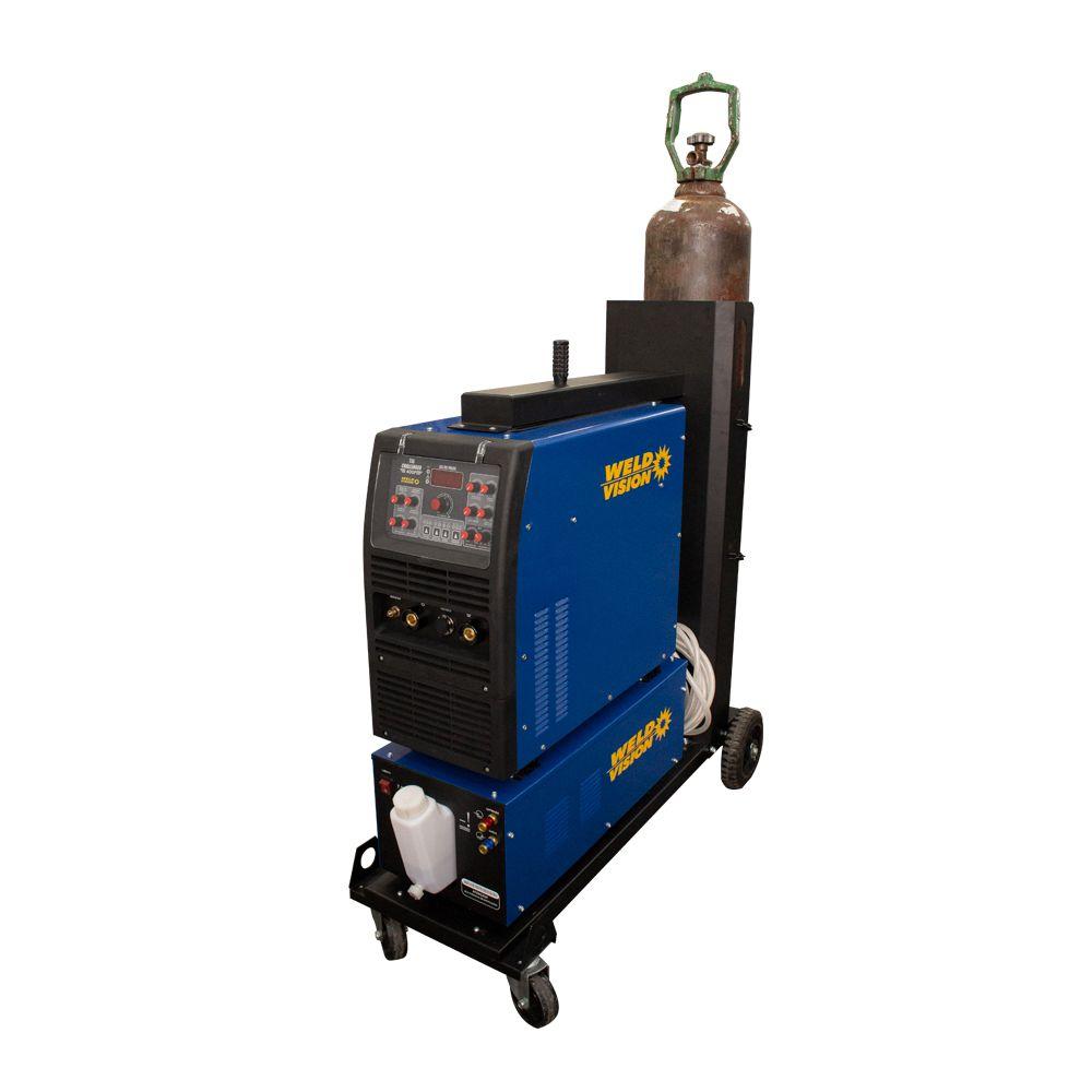 Conjunto Inversora de Solda Tig Challenger 315 Pulse AC/DC  +  Unidade Refrigeradora 7,5 litros + Carrinho para Transporte + Pedal TIG