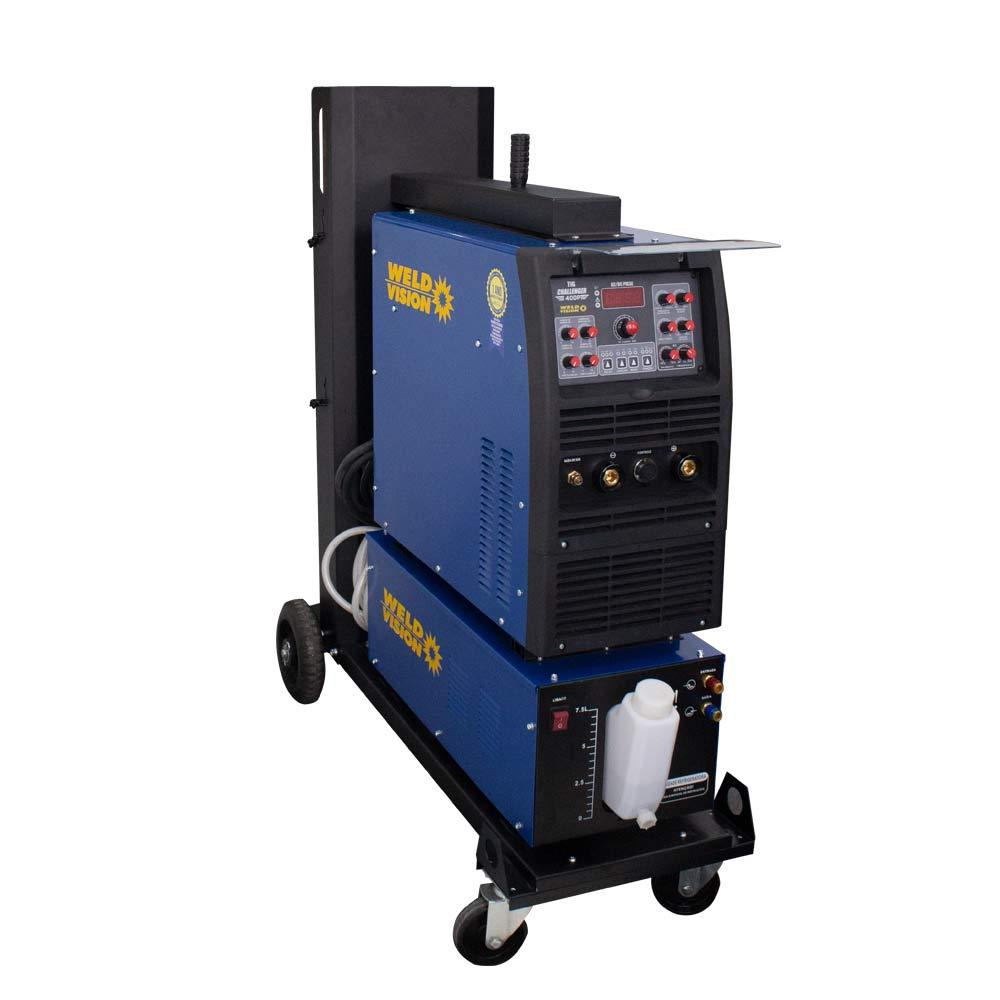 Conjunto Inversora TIg Challenger 500 Pulse AC/DC + Unidade Refrigeradora 7,5 Litros + Carrinho para Transporte + Pedal de Acionamento TIG