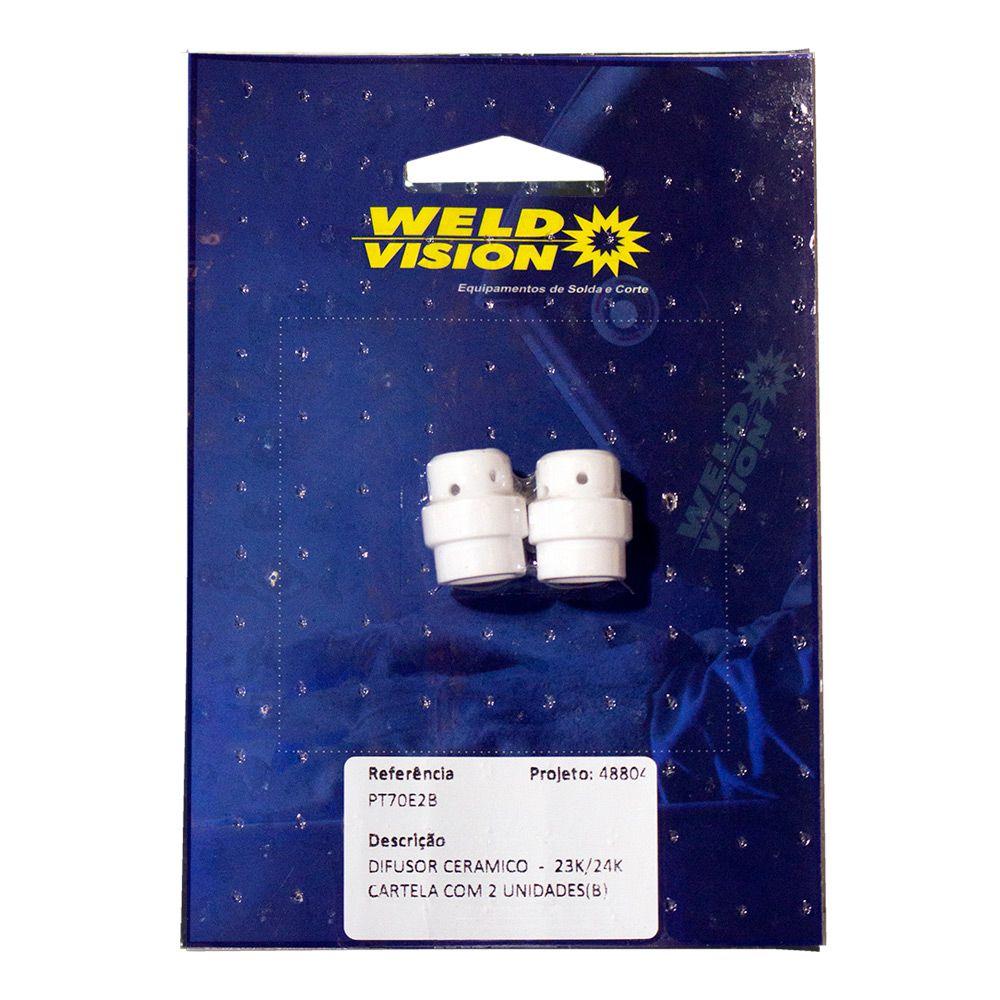 Difusor Cerâmico para tocha MIG - cartela com 2 unidades