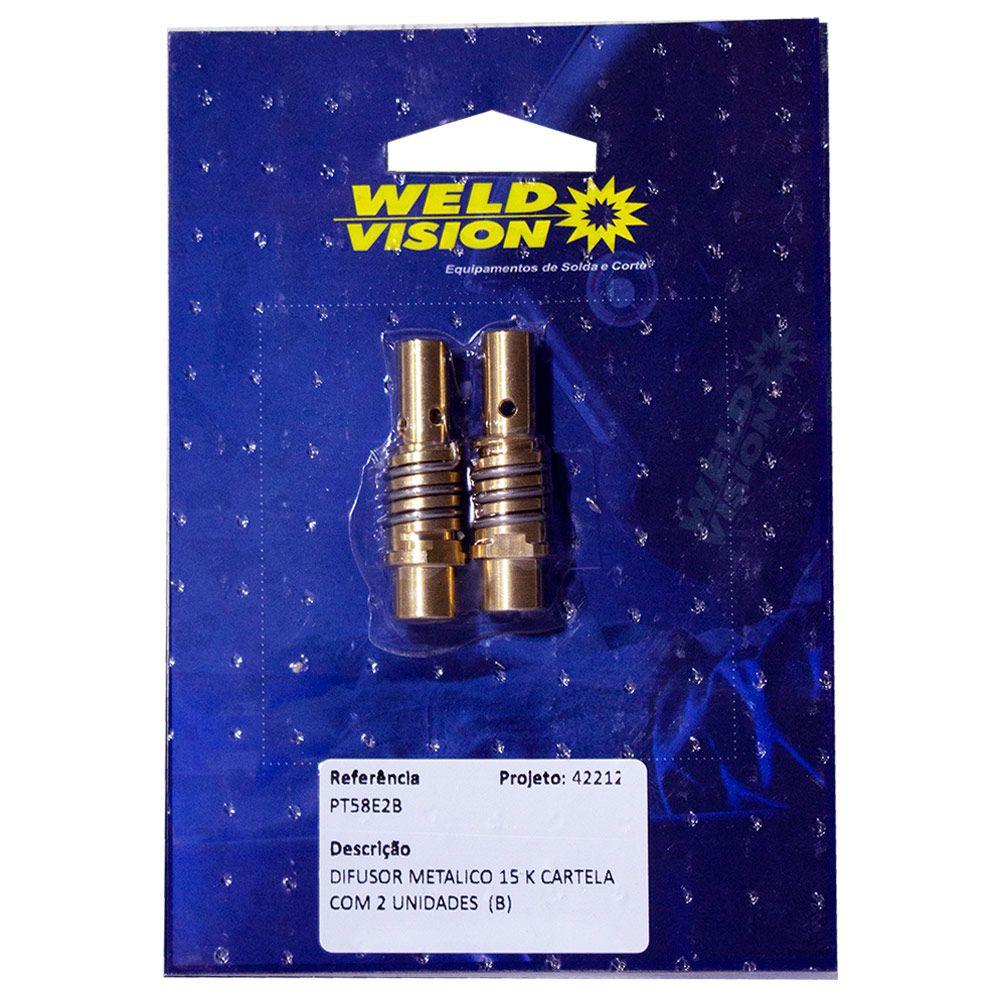 Difusor Metálico para tocha MIG - 15k ou 25k com duas unidades