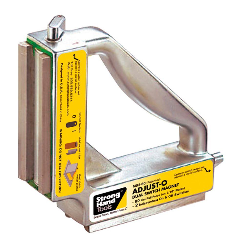 Esquadro Magnético Liga/Desliga Duplo 90º Pequeno para 55Kg e 120Kg