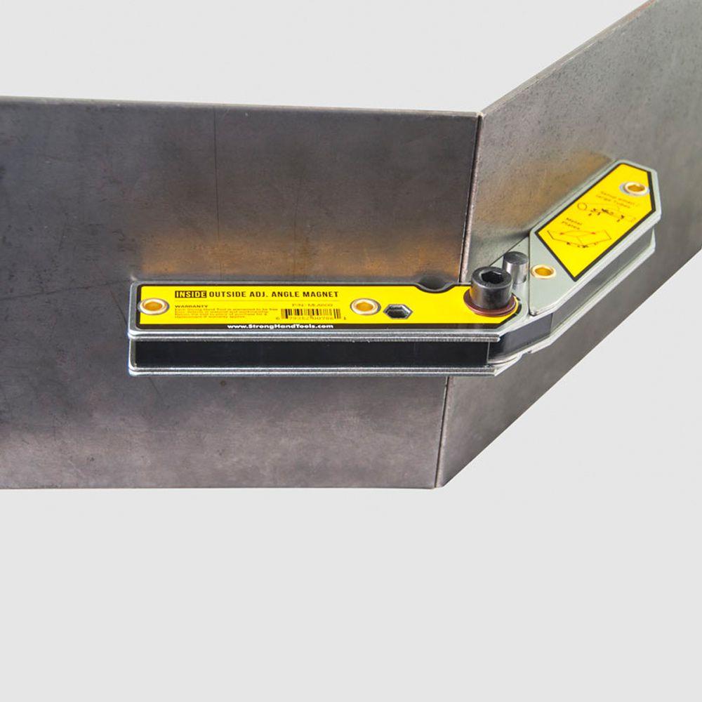 Esquadro Metálico Reto e com Ângulo Ajustável Interno e Externo 30º-270º Grande