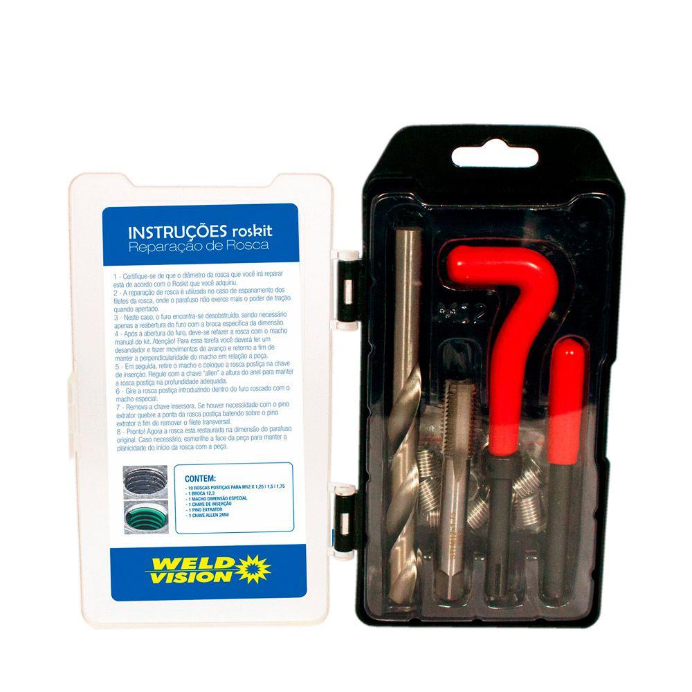 Kit de Reparo para Rosca Postiça  M12 X 1,25 - 1,50 - 1,75