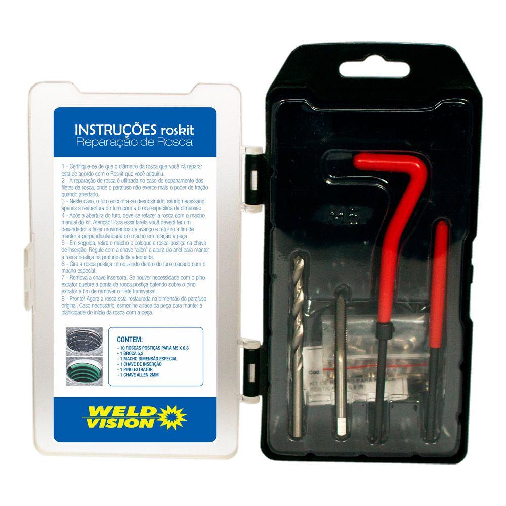 Kit de Reparo para Rosca Postiça  M5 X 0,8