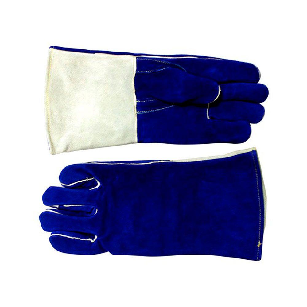 Luva MIG BW05 V Azul e Cinza