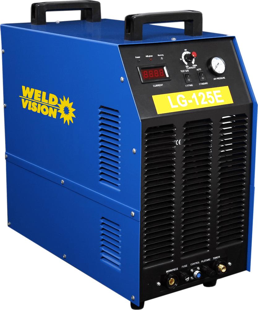 Máquina de corte a plasma retificadora trifásica 125A corta 42mm separa 47mm - LG 125E Weld vision