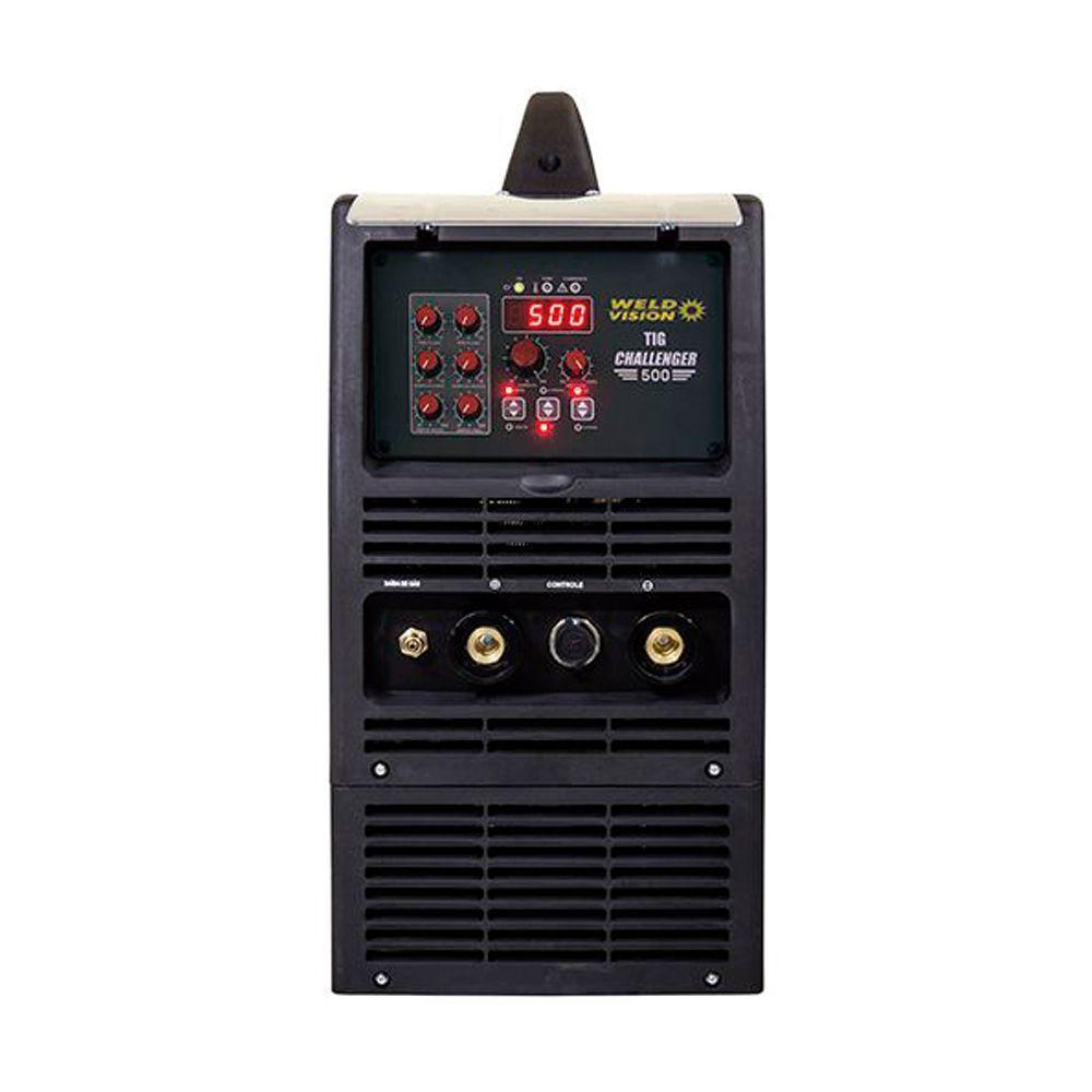 Máquina de solda inversora Eletrodo TIG Challenger  500A trifásica 220V e 380V Weld Vision