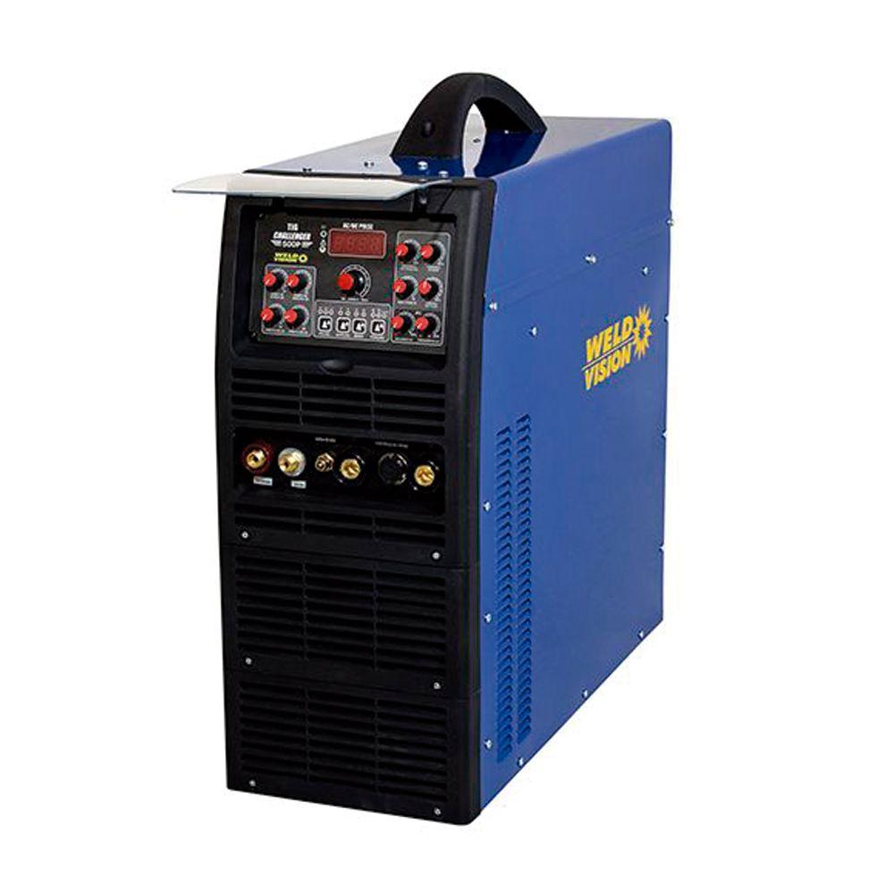 Máquina de solda inversora Eletrodo TIG  Challenger 400 Pulse AC/DC 400A trifásica Weld Vision
