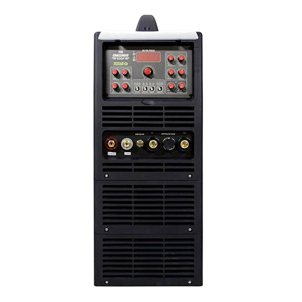Máquina de solda inversora Eletrodo TIG Challenger 500 Pulse AC/DC com 500A trifásica  Weld Vision