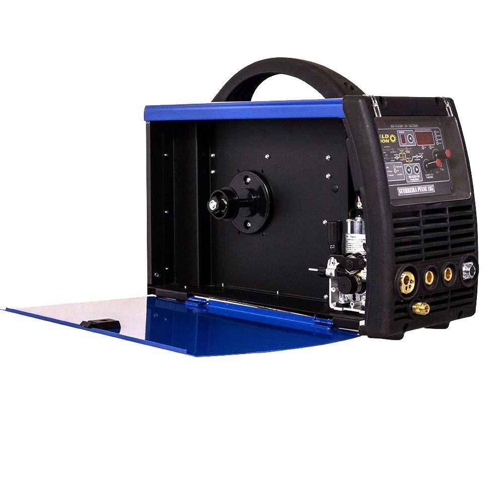 Máquina inversora de solda MIG TIG Eletrodo Guerreira 205 Pulse Weld Vision