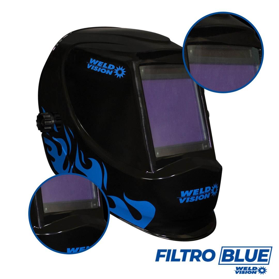 Máscara de Solda Automática Thunder Filtro Blue