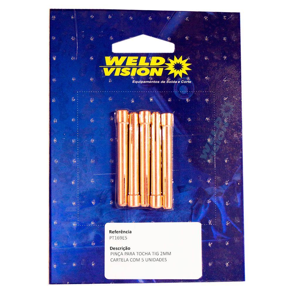 Pinça tocha Tig - 1,6mm/ 2,0mm/ 2,4mm/ 3,2mm - 5 unidades