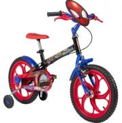 "Bicicleta Caloi - Spider Man - Aro 16"" - Infantil - Preta - 2020"
