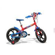 """Bicicleta Caloi - Spider-Man - Aro 16"""" - Infantil - Vermelha / Azul"""