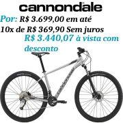 Bicicleta Cannondale - Trail 6 - 2019 - Prata + Brinde