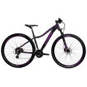 Bicicleta Oggi - Float 5.0 - Preta / Roxo - (Altus 27 v)
