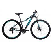 Bicicleta Oggi - Float Sport Feminina - Preta / Verde