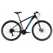 Bicicleta Oggi - Hacker HDS 24v - Preto / Azul / S-Lime - 2021