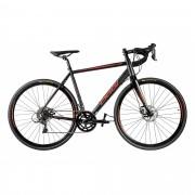 Bicicleta Oggi - Velloce Disc 700c - Preta / Vermelha