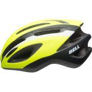 Capacete Bell - Crest-R - Neon / Preto / Branco - Fosco