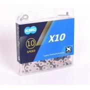Corrente KMC - X10 - 10v - Prateado