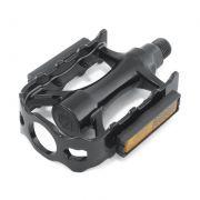 Pedal MTB Alumínio Preto 1/2 C/ ESFERA (Rosca Fina)
