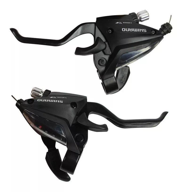 Alavanca Rapidfire - Shimano ST-EF500 - 7 x 3 v - c/ manetes