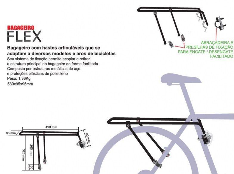 Bagageiro de bicicleta - Kalf KF405PR