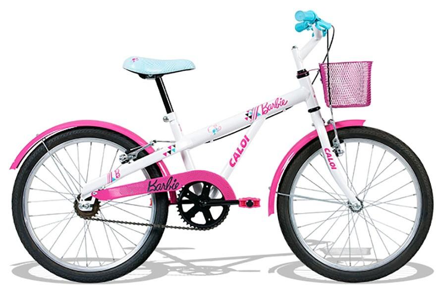 Bicicleta Caloi Barbie 20 - Aro 20 - Branco / Rosa / Turquesa