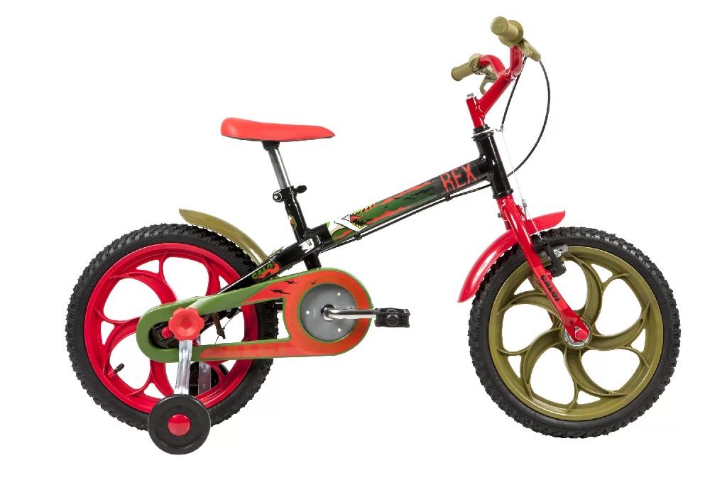 Bicicleta Caloi - Power Rex - Aro 16'' - Preta